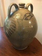 Ovoid 4 Gallon Jug Large Cobalt Rattlesnake One of a Kind North Carolina Art Pottery signed - 3 of 4