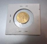 Mexico 1955 M 5 Pesos Gold Coin .1206 oz. Oro Purofrom a 100 year collection - 1 of 2