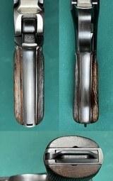 ARGENTINE STEYR MANNLICHER 1905 PISTOL INTACT CREST MATCH No Import HOSTER AMMO & CLIP ALL EXCELLENT - 8 of 15