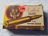 Weatherby Ultra-Velocity Ammunition 7 mm Magnum