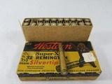 Western Super-X Silvertip .32 Winchester Special 170 grain expanding bullet