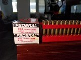 Federal Rilfe Center Fire Cartridges .243 Winchester 80 grain Soft Point