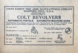 colt automatic pistol Colt;s Patent Fire Arms Manufacturing - 6 of 13