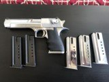 Desert Eagle 41/44 Magnum Pistol--Israel Military Industries Excellent w 5 mags
