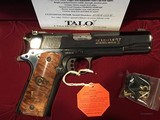 """RARE TALO COLT NATIONAL MATCH 'ROYAL GOLD CUP' """"ONE OF 300"""""""