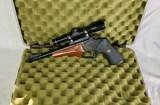 Thompson Contender pistol Leupold scope w/5 barrels and case