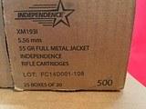 1000rds 5.56mm/223 Nato XM193 55gr FMJ - 2 of 2