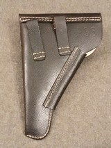 WWII WW2 German P.38 Holster - Black Pebble Grain Leather - cxb 4 - Mint - Unissued - 2 of 12