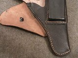 WWII WW2 German P.38 Holster - Black Pebble Grain Leather - cxb 4 - Mint - Unissued - 4 of 12