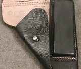 WWII WW2 German P.38 Holster - Black Pebble Grain Leather - cxb 4 - Mint - Unissued - 5 of 12