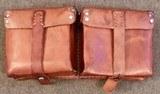 WWII WW2 German G43 K43 Magazine Pouch - 1944 date - Brown Leather