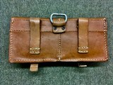 WWII WW2 German G/K43 Magazine Pouch - ros - 1944 - Brown Leather - 2 of 7
