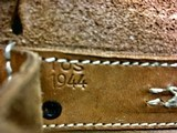 WWII WW2 German G/K43 Magazine Pouch - ros - 1944 - Brown Leather - 4 of 7