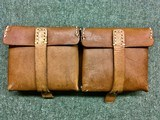 WWII WW2 German G/K43 Magazine Pouch - ros - 1944 - Brown Leather