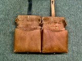 WWII WW2 German G/K43 Magazine Pouch - ros - 1944 - Brown Leather - 3 of 7