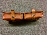 WWII WW2 German G/K43 Magazine Pouch - ros - 1944 - Brown Leather - 7 of 7
