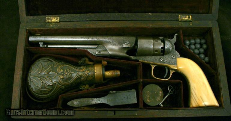 7. Cased Factory Engraved Colt Model 1860 Army Revolver