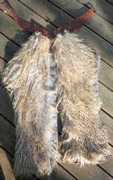 168.Unmarked Blonde Angora Wooly Chaps - 1 of 1