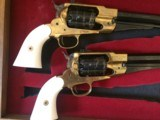 Pietta Golden Buffalo Hunter New Model Army 185844 cal 6-shot revolvers. Limited Edition boxed set of 2 with certificate - 7 of 14