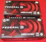 Federal American Eagle 45 Colt Ammo 100 Rds