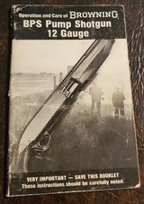 BROWNING BPS BOOKLET - 1 of 3