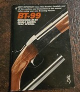 BROWNING BT-99 BOOKLET