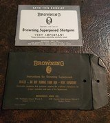 BROWNING SUPERPOSED BOOKLET