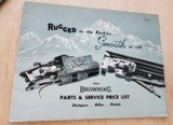 1961 BROWNING PARTS AND SERVICE PRICE LIST - 1 of 2