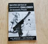 BROWNING CHALLENGER .22 AUTOMATIC PISTOL BOOKLET