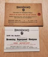 1959 BROWNING SUPERPOSED SHOTGUNS BOOKLET - 1 of 5