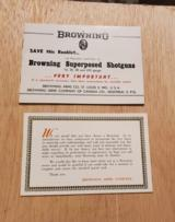 1959 BROWNING SUPERPOSED SHOTGUNS BOOKLET - 4 of 5
