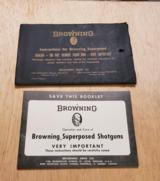 1967 BROWNING SUPERPOSED SHOTGUNS BOOKLET - 1 of 3