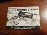 BROWNING AUTOMATIC-5 SHOTGUN MANUAL - 3 of 7