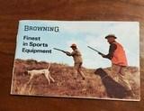 1970 BROWNING POCKET CATALOG - 2 of 2