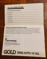 BROWNING GOLD SEMI-AUTO 10 GA. BOOKLET - 3 of 3