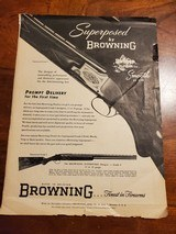 BROWNING GRADE 1 SUPERPOSED ADVERTISEMENT - 1 of 3