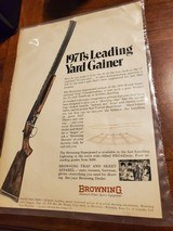 1971 ADVERTISEMENT FOR BROWNING SUPERPOSED