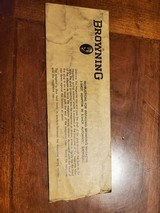 BROWNING ENVELOPE INSTRUCTIONS FOR INSTALING 3-SHOT ADAPTOR IN 5-SHOT AUTO SHOTGUNS - 1 of 1