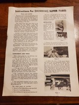 INSTRUCTIONS FOR BROWNING SUPER-TUBES - 1 of 2