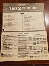 1972 BROWNING PRICELIST - 1 of 2