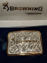 BROWNING WOMENS BELT BUCKLE BY MONTANA SILVERSMITHS - 2 of 6