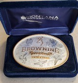 BROWNING 125 ANNIVERSARY BELT BUCKLE BY MONTANA SILVERSMITHS
