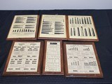 Lot of 6 Boards with Rifle, Shotgun, and Pistol Cartridges