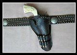 "Spotted Holster & Belt Rig - For Colt SAA 4 3/4"" - Circa 1880-1890 - 2 of 5"
