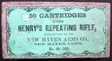 .44 Henry Ammo New Haven Arms Co. Maker Circa 1863-65