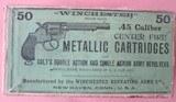 """Colt 45 Ammo """"Winchester Picture Box"""", Circa 1885-1900"""