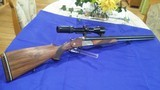 Krieghoff Trumpf Drilling in 7 X 65R and 16/70 from 1967 with S & B variable scope