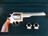 collector grade ruger redhawk .44 mag engraved, stainless revolver in case