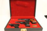 Browning,Standard Three Pistol Set,9mm,.380,25 A.C.P.,Mfg 1969.