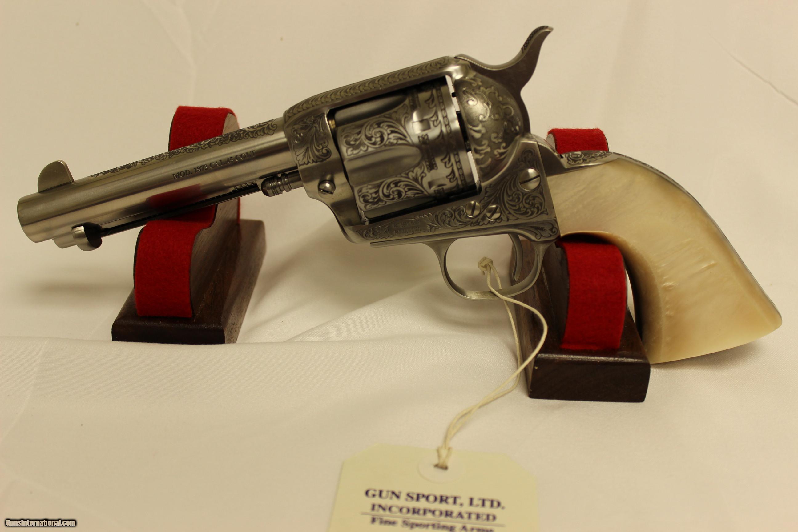 A Ubertistoeger 1873 Cattleman Engraved 45 Colt